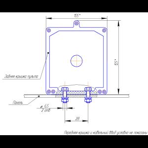 Установка пульта контроля ПК-02 на горизонтальную поверхность