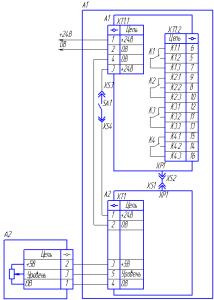 Принципиальная схема сигнализатора уровня УС-01