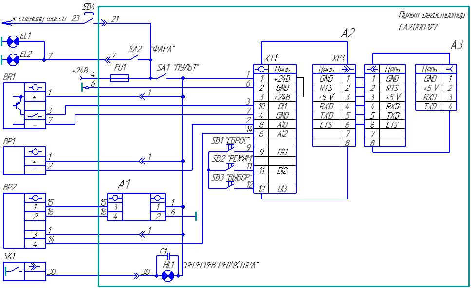 Схема подключения системы СКЦ-01